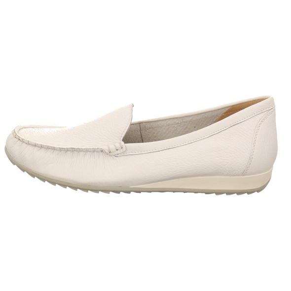 Caprice Damen 24274-105 Weißer Glattleder Slipper