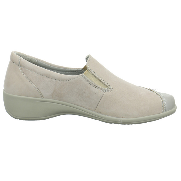 Longo Damen 1045221 Beigefarbener Leder Slipper