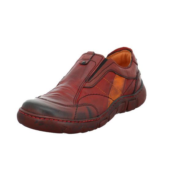 Kacper Damen 2-1186 Roter Glattleder Slipper