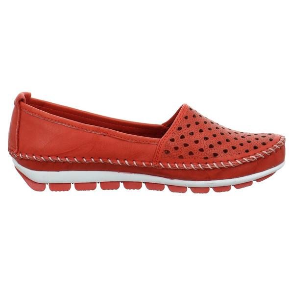 Gemini Damen 003128-01-005 Roter Glattleder Slipper