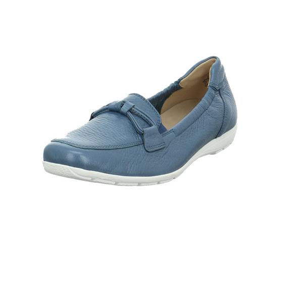 Caprice Damen 24660-865 Blauer Glattleder Slipper
