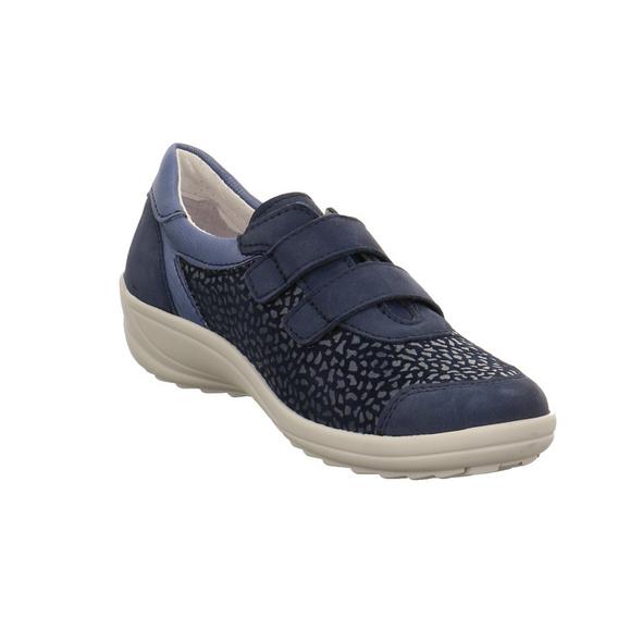 Longo Damen 1045878 Blauer Leder/Textil Slipper
