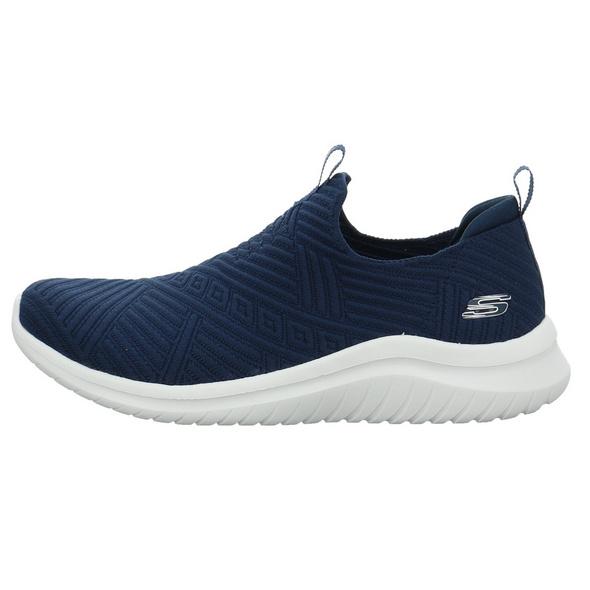 Skechers Damen 149180NVW Blauer Textil Slipper