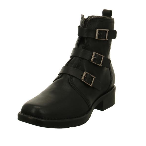 Camel active Damen Bright 72 Schwarze Glattleder Boots