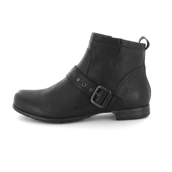 Tizian Damen Dallas 110 Schwarze Leder/Textil Stiefelette