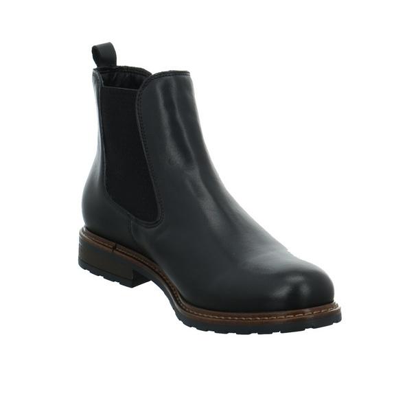 Tamaris Damen 25056-003 schwarzer Glattleder Chelsea Boot