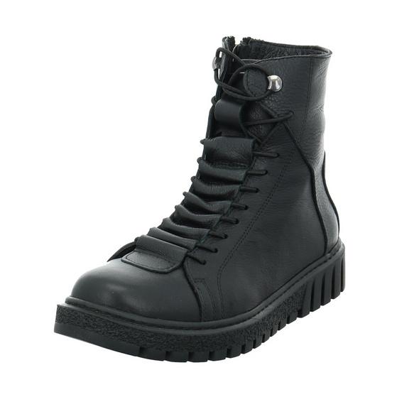 Lazamani Damen 68.033 schwarzer Glattleder Boot