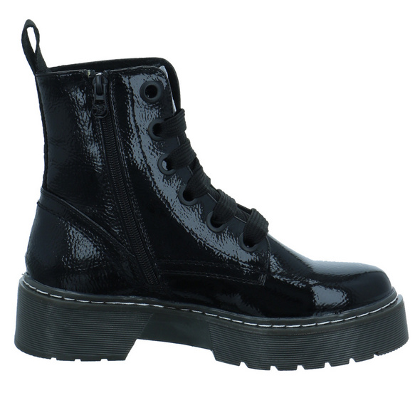 Tom Tailor Damen 9096401 BLACK Schwarzer Lack Boot
