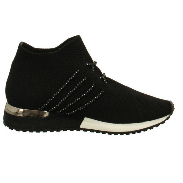 La Strada Damen 1705464/4501 Schwarze Textil Sneaker