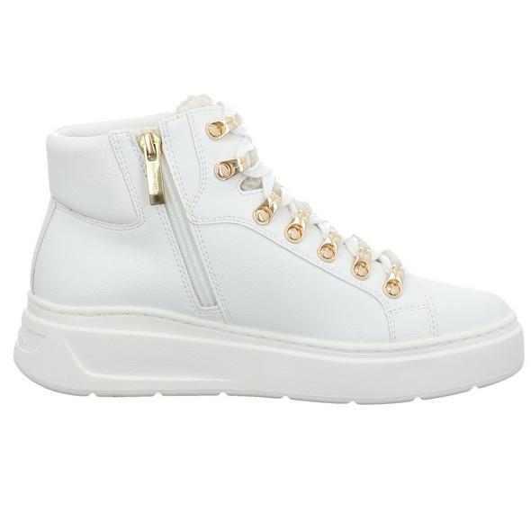 Tamaris Damen 25850-190 weißer Synthetik Mid Cut Sneaker