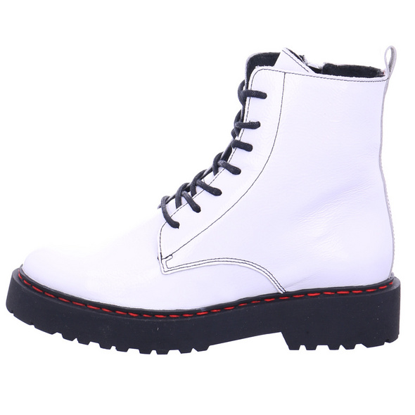 Online Shoes Damen F-8280 Weiße Lack Boots