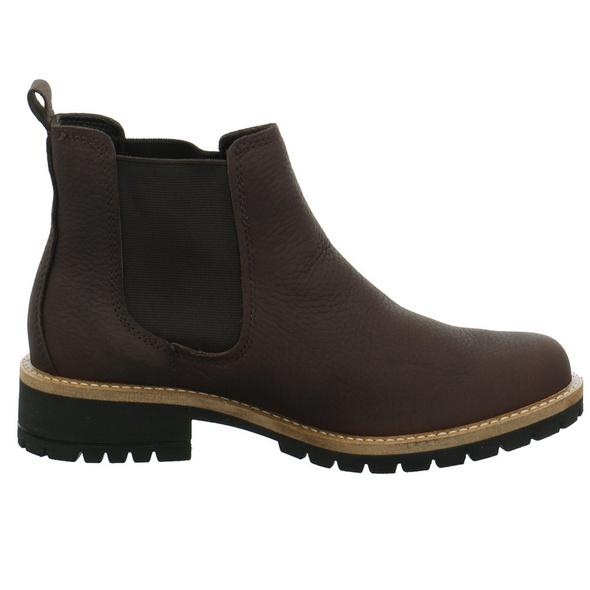 Ecco Damen Elaine Brauner Leder/Textil Boot
