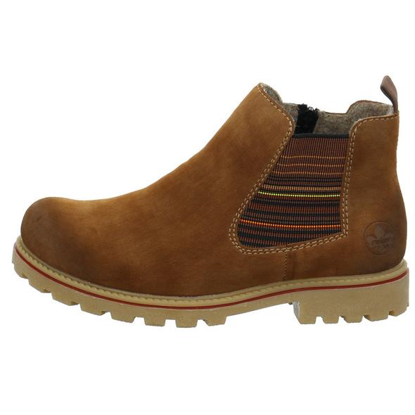 Rieker Damen Z1471-24 Brauner Synthetik Boot
