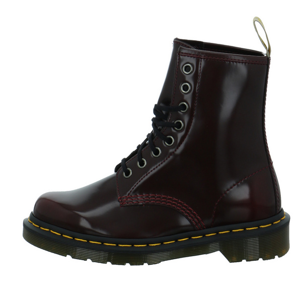 Dr. Martens Damen Oxford Rub Off Rote Lack Boots