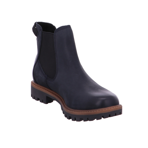 Tamaris Damen 25401-805 Blaue Glattleder Chelsea Boots