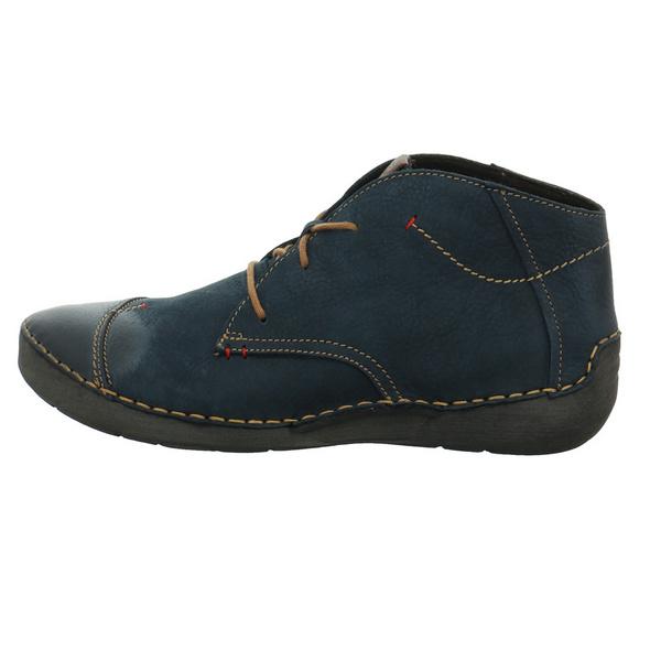 Josef Seibel Damen Fergey 18 Blauer Nubukleder Boot