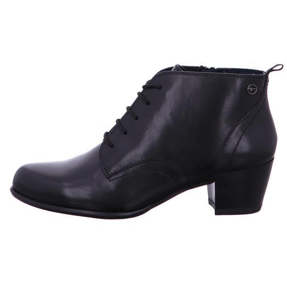 Tamaris Damen 25115-001 Schwarze Glattleder Ankle Boots
