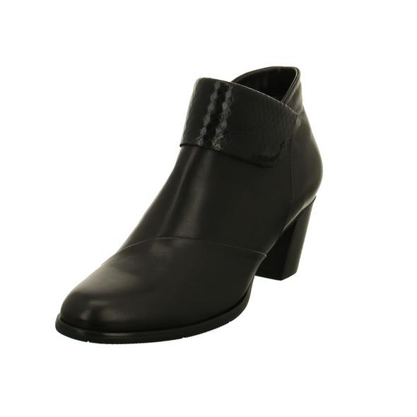 Regarde le Ciel Damen Sonia 37 Schwarze Glattleder Ankle Boots