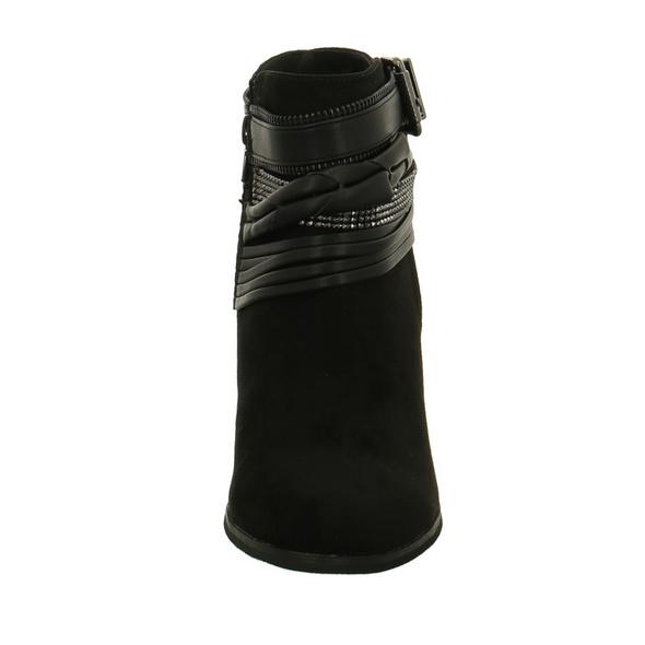 La Strada Damen 702271/2201 Schwarze Textil Stiefelette