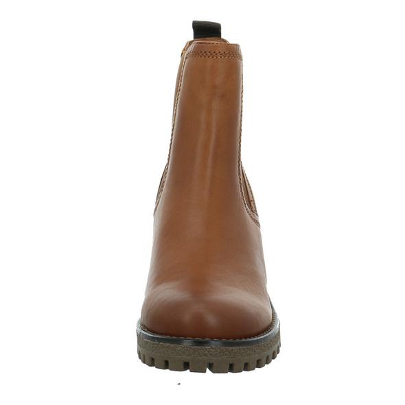 Carmela Damen 67403CAMEL Brauner Glattleder Chelsea Boot