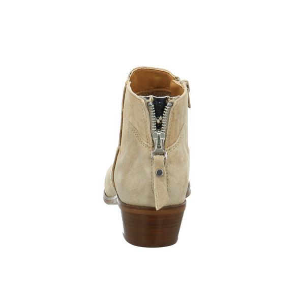 Alpe Damen 4572-11-08 Beigefarbene Veloursleder Stiefelette im Cowboy-Stil