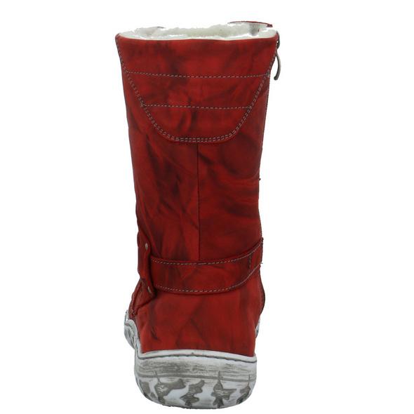 Krisbut Damen 3089-4 Rote Glattleder Winterstiefel