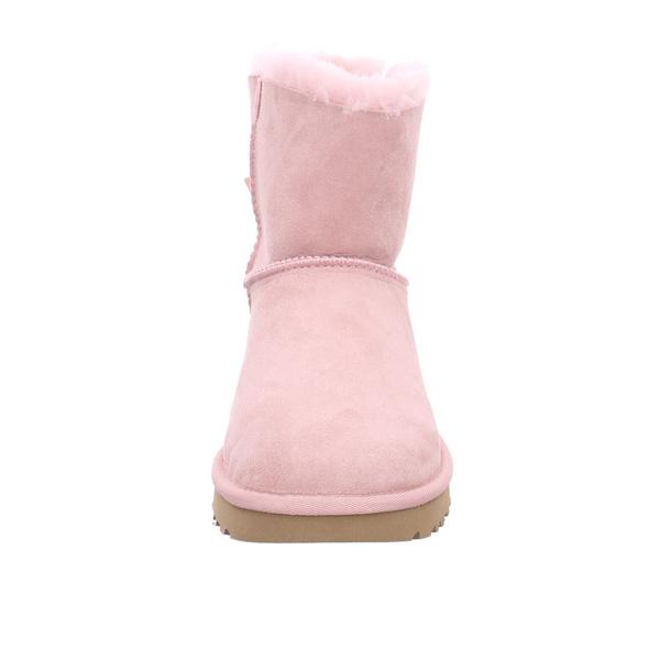 UGG Damen W Mini Bailey Bow II Rosa Veloursleder Winterboots