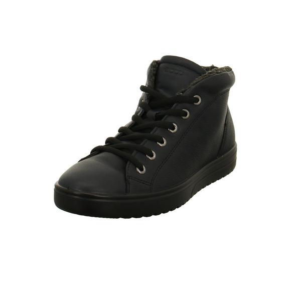 Ecco Damen Fara 235343/1303 Blaue Glattleder Boots