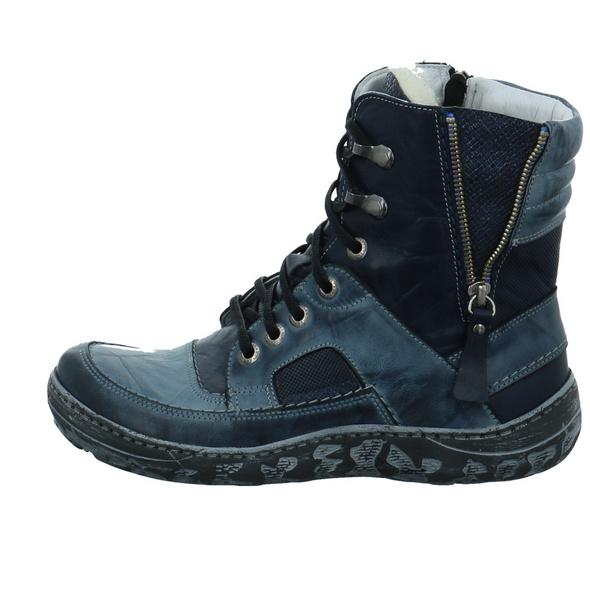 Krisbut Damen 3118-2 Blaue Glattleder Winterboots