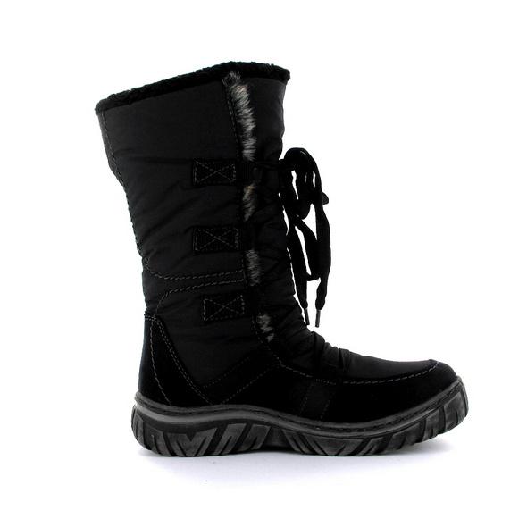 Vista Damen 53-55070 Schwarzer Synthetik/Textil Winterstiefel