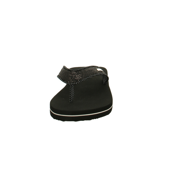 Esprit Damen Glitter Thongs 039EK1W015001 Schwarze Textil Pantolette