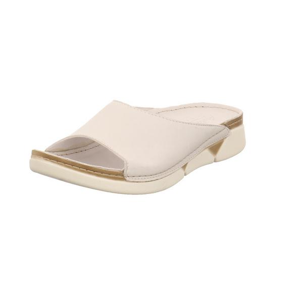 Andrea Conti Damen 0529610-001 Weiße Glattleder Pantolette