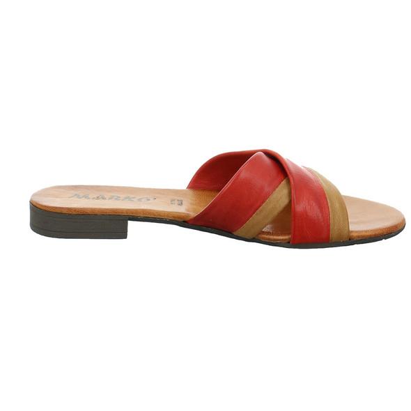 Marko Damen 225125 Rote Glattleder Pantolette