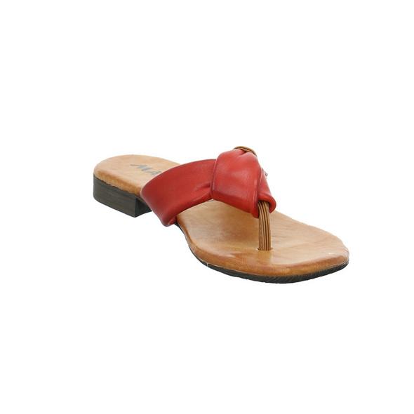 Marko Damen 225065 Rote Glattleder Pantolette