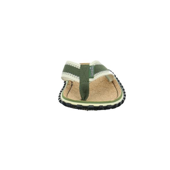 Gumbies Damen Corker Grüne Textil Pantolette