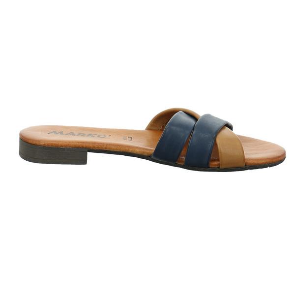 Marko Damen 225015/Oceano Blaue Leder Pantolette
