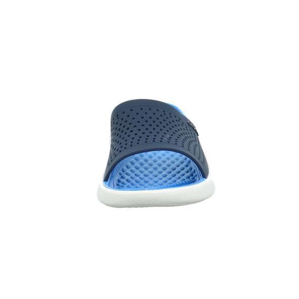 Crocs Damen LiteRideSlite Blaue Synthetik Pantolette