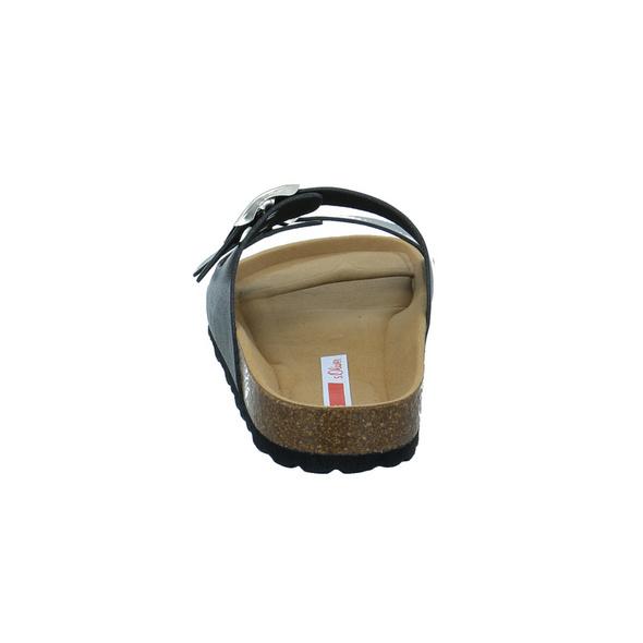 S.Olvier Damen 27105-001 Schwarze Synthetik Pantolette