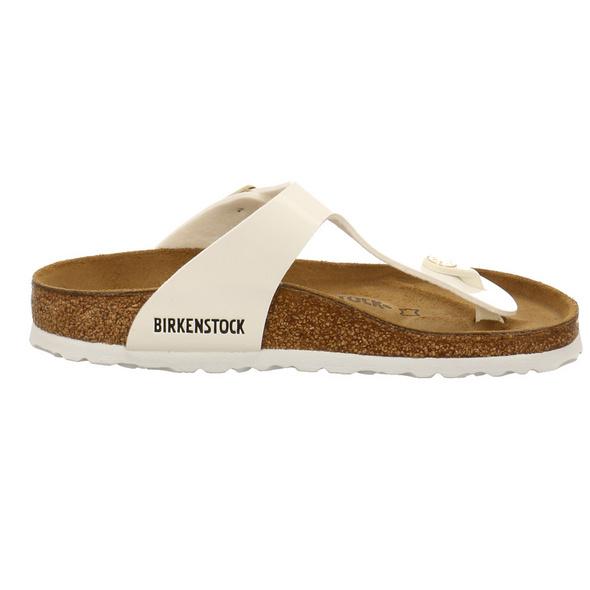 Birkenstock Damen Gizeh Weiße Lack Pantolette