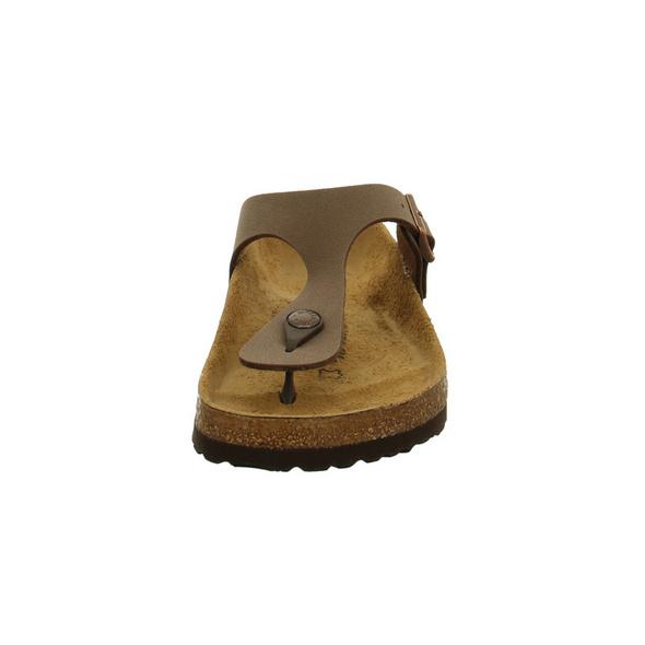 Birkenstock Damen Gizeh 043751 Braune Birkoflor Zehenstegpantoletten - Normale Weite