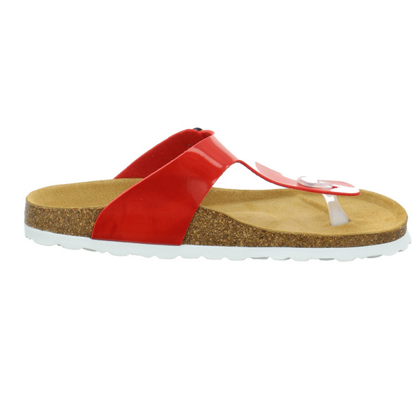 Longo Damen 1043020 Rote Lack Pantolette