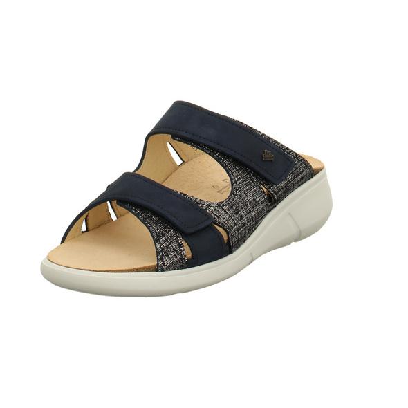 Finn Comfort Damen Pantolette - Palau - Nubukleder in blau - 3350/901586