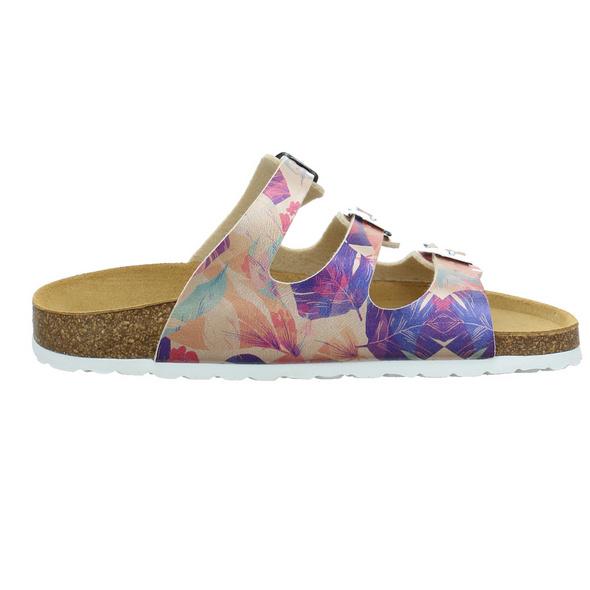 Longo Damen 1071549 Multicolorfarbene Synthetik Pantolette