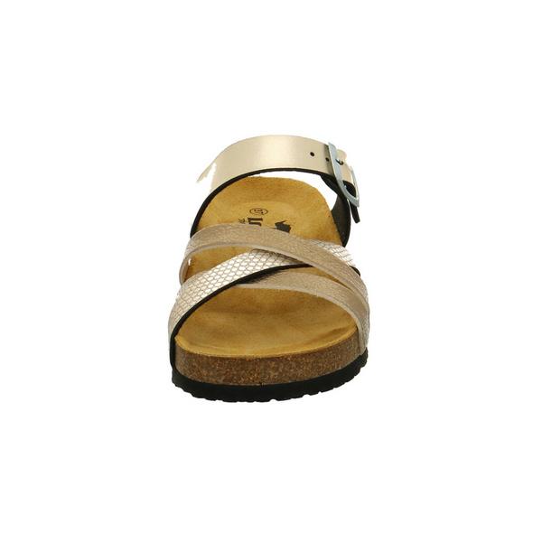Longo Damen 1044427 Goldfarbene Synthetik Pantolette