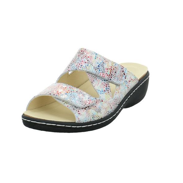Longo Damen 1044783 Multicolorfarbene Leder Pantolette