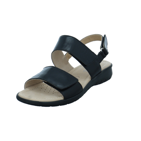 Caprice Damen 28602-022 Schwarze Glattleder Sandalette