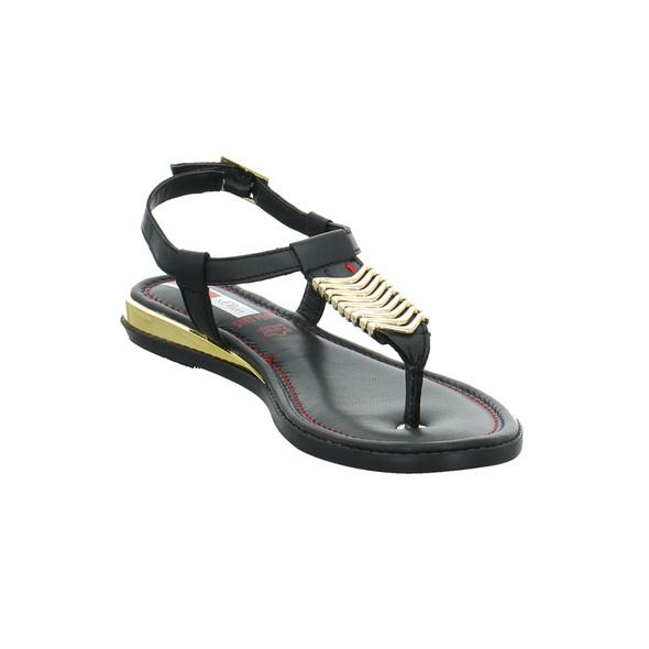S.Oliver Damen 28100-001 Schwarze Glattleder Sandalette
