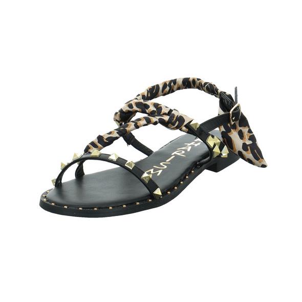 Kharisma Damen 1263 Schwarze Synthetik/Textil Sandale