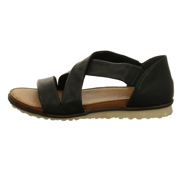 Remonte Damen R2755-01 Schwarze Glattleder Sandale