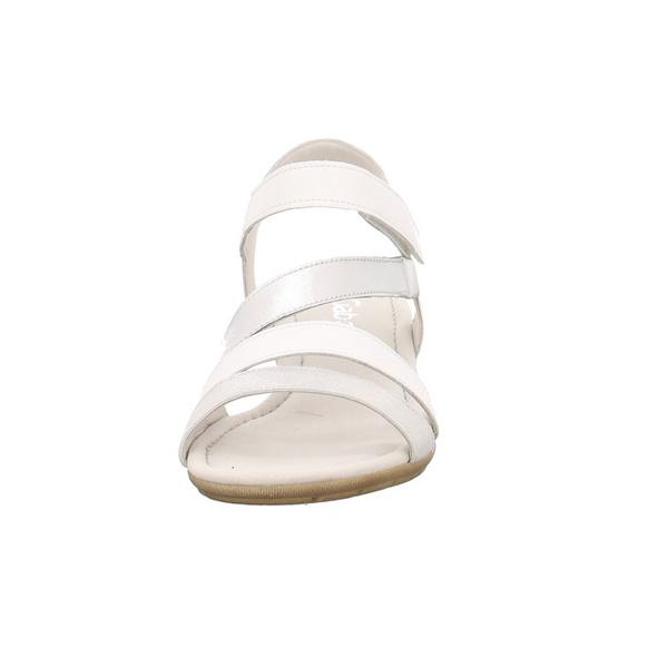 Gabor Damen 24-551-61 Weiße Glattleder Sandale